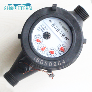 Mechanical high quality multi jet dry type water meter