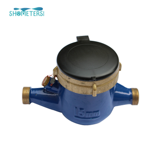 1/2 inch multi jet dry type brass body water meter