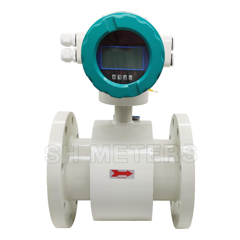 DN50 220v rs485 digital food grade irrigation electromagnetic flowmeter made in china