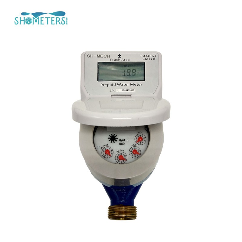 digital smart brass class c prepaid water meter for South Africa