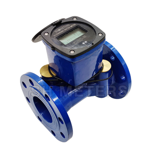 dn100 full liquid seal ductile iron cold ultrasonic water flow meter