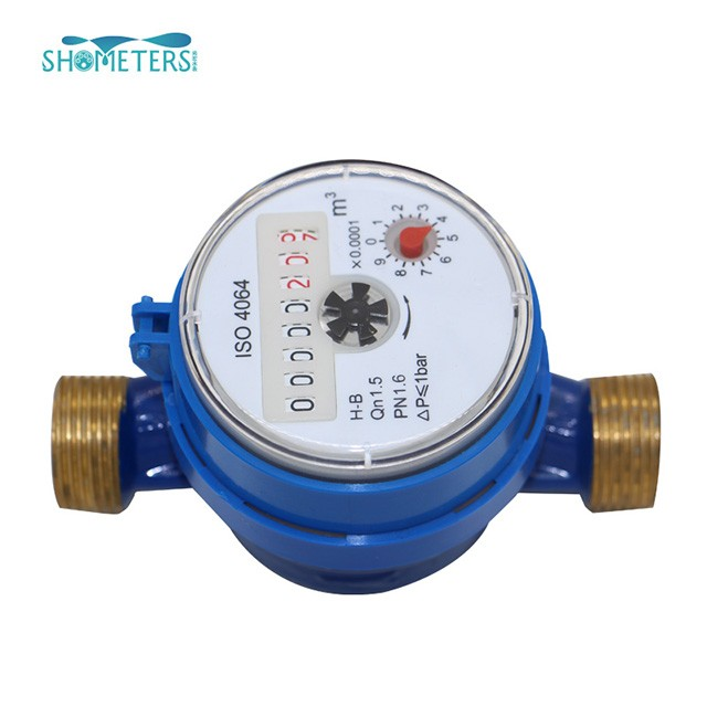 15-20mm Single Jet brass Cold Water Meter