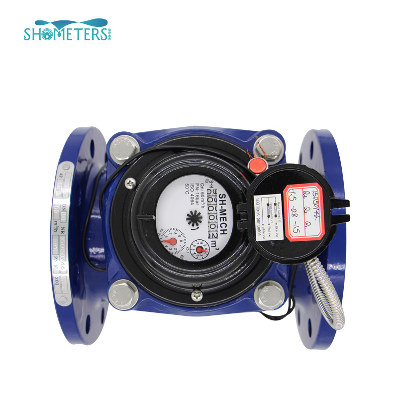 DN100 pulse output dry type bulk irrigation water meter with digital display price